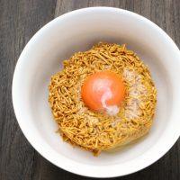 チキンラーメンを簡単アレンジ!麻婆豆腐ラーメン